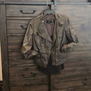 Grey Guess leather jacket